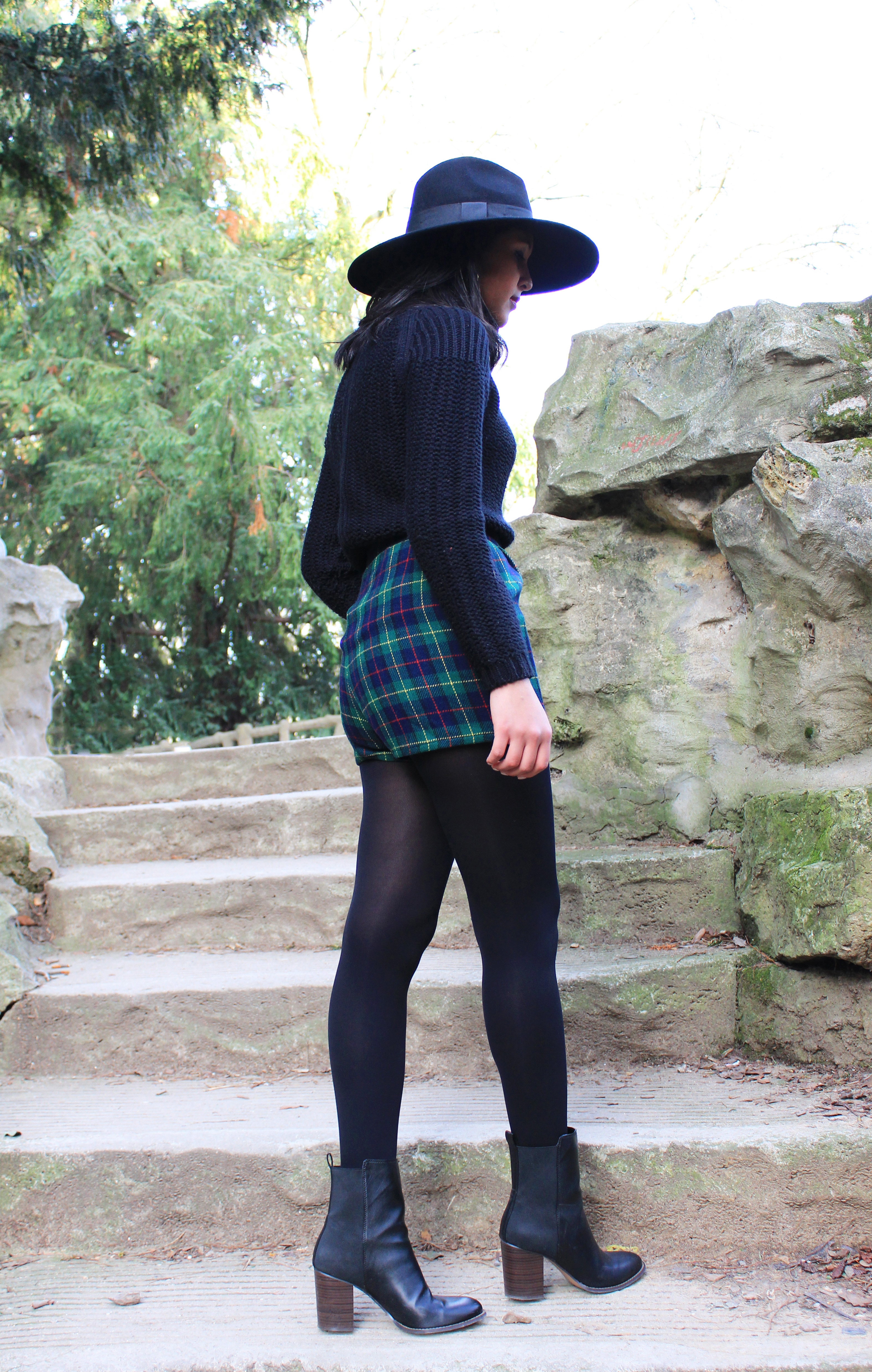 Soleil d'hiver_chapeau-Zara-col_roule-Pull-and-Bear_Short_Tartan_Boots-Asos-1