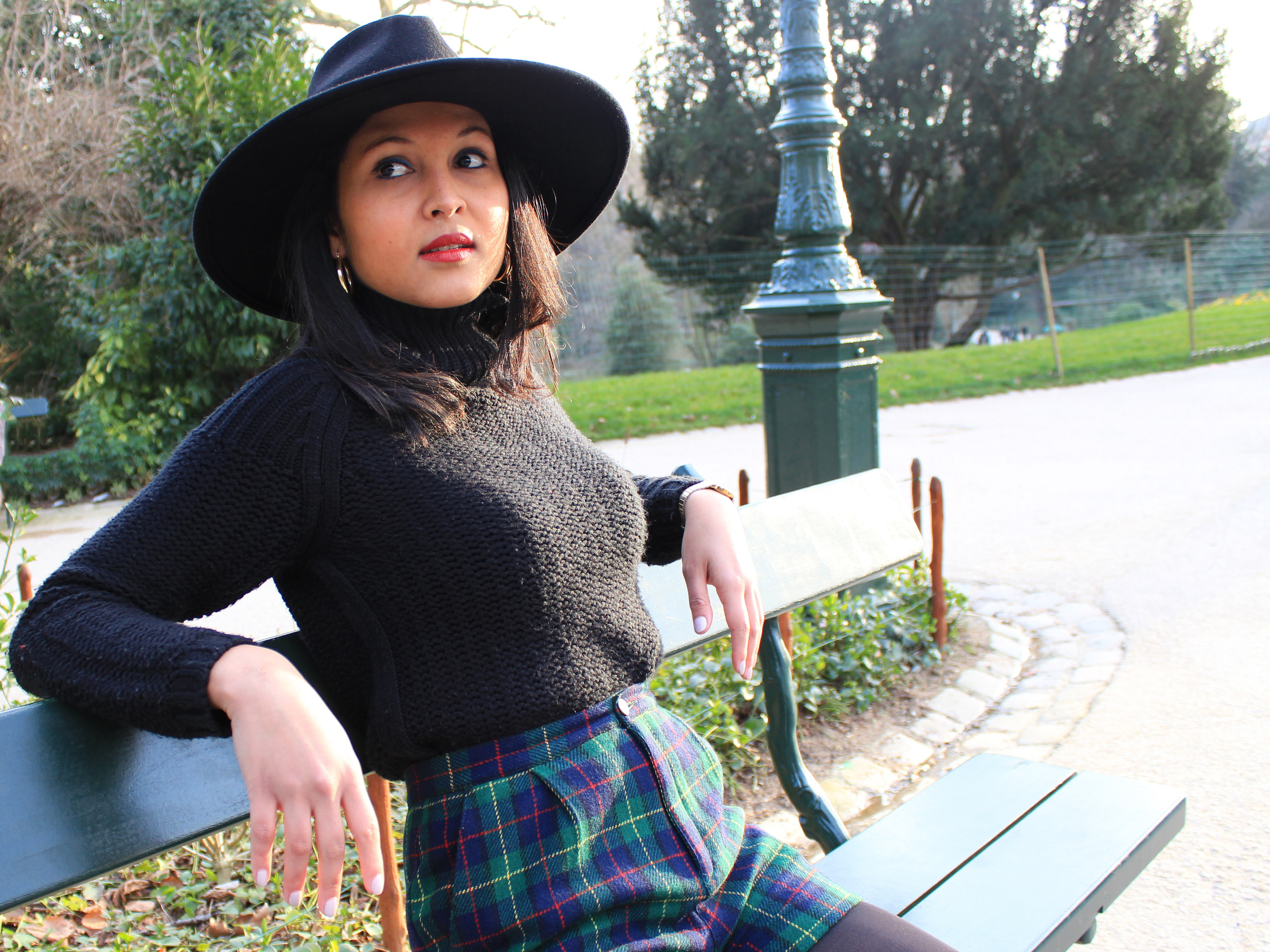 Soleil d'hiver_chapeau-Zara-col_roule-Pull-and-Bear_Short_Tartan_Boots-Asos-3