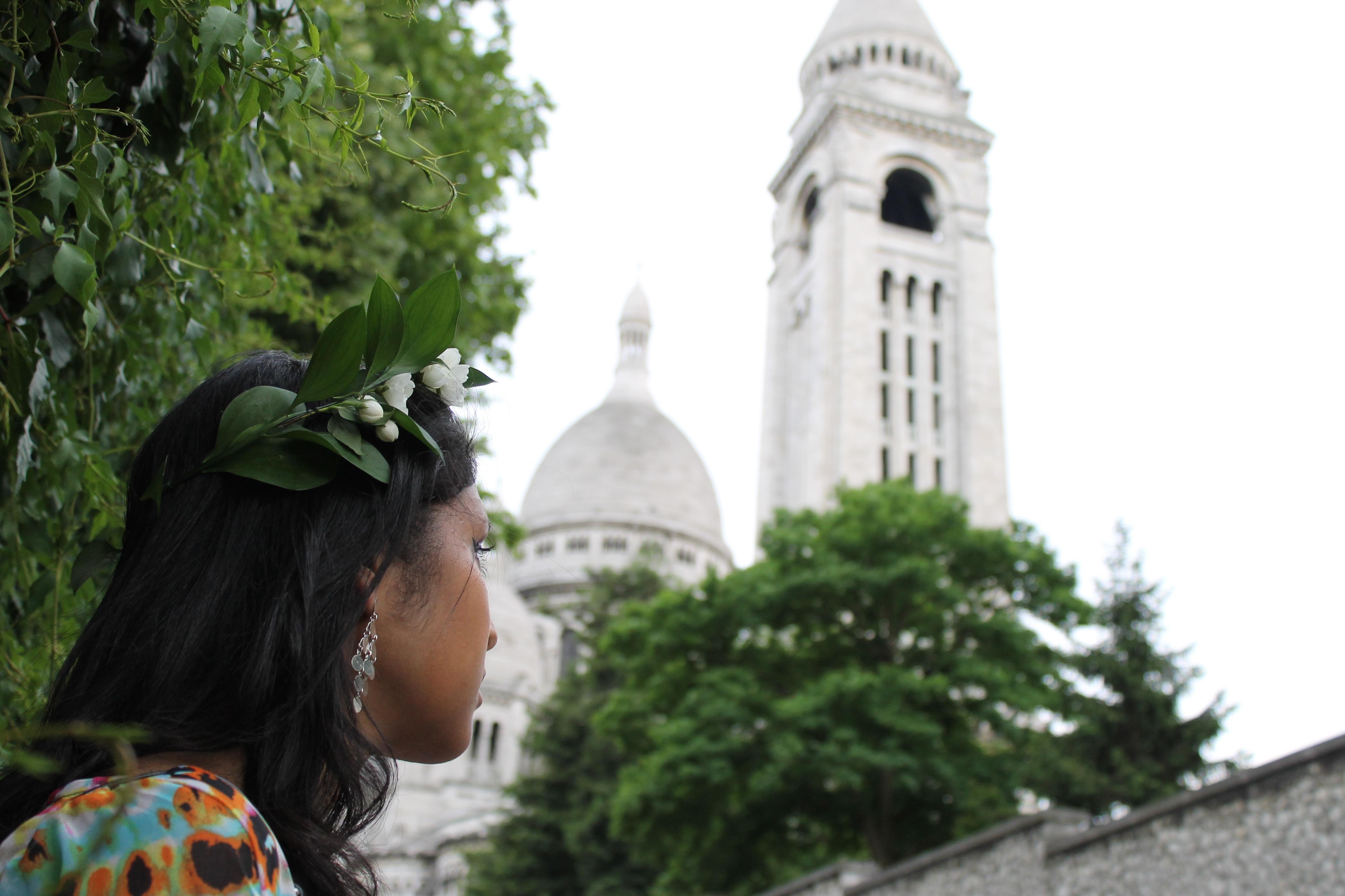 Robe-tie-dye-sheinside-couronne-de-fleurs-montmartre