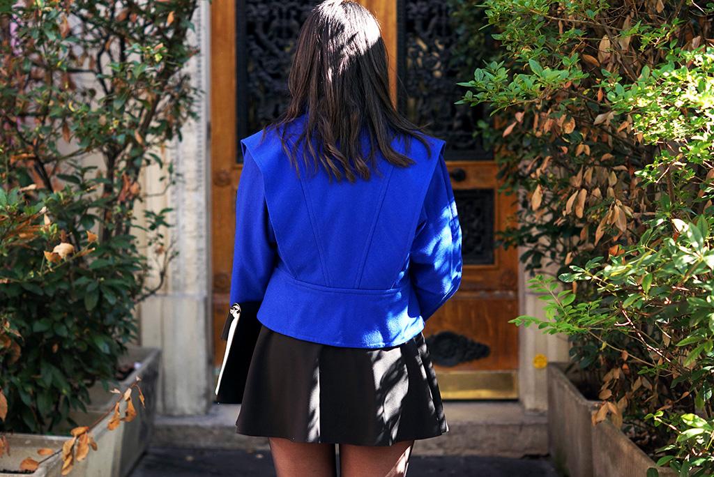 look_preppy_veste_vintage_bleu_electrique