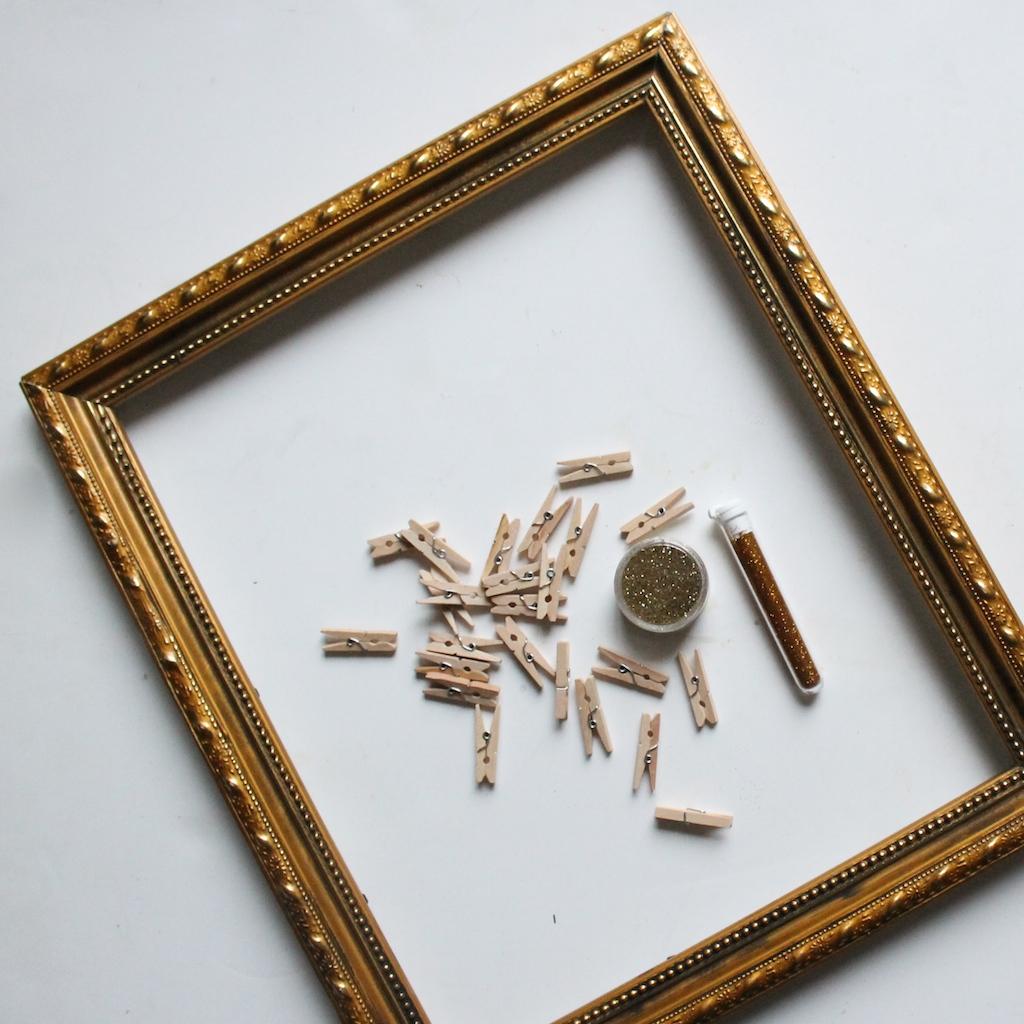 cadre-mini-pinces-à-linge-paillettes