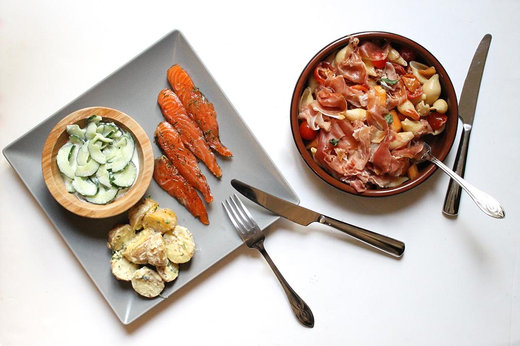 Food-Cheri-conchiglie-melon-jambon-cru-gravlax-saumon