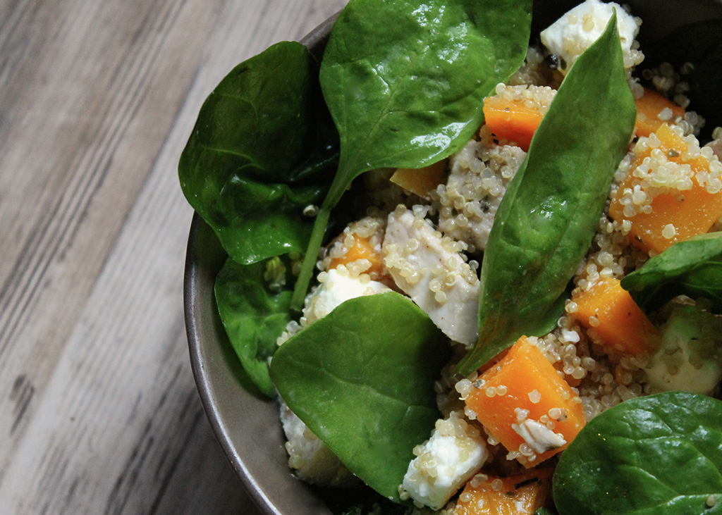 salade-epinards-butternut-poulet-feta