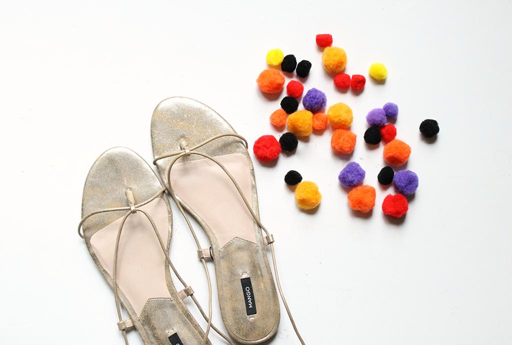 diy-sandales-mango-pompons