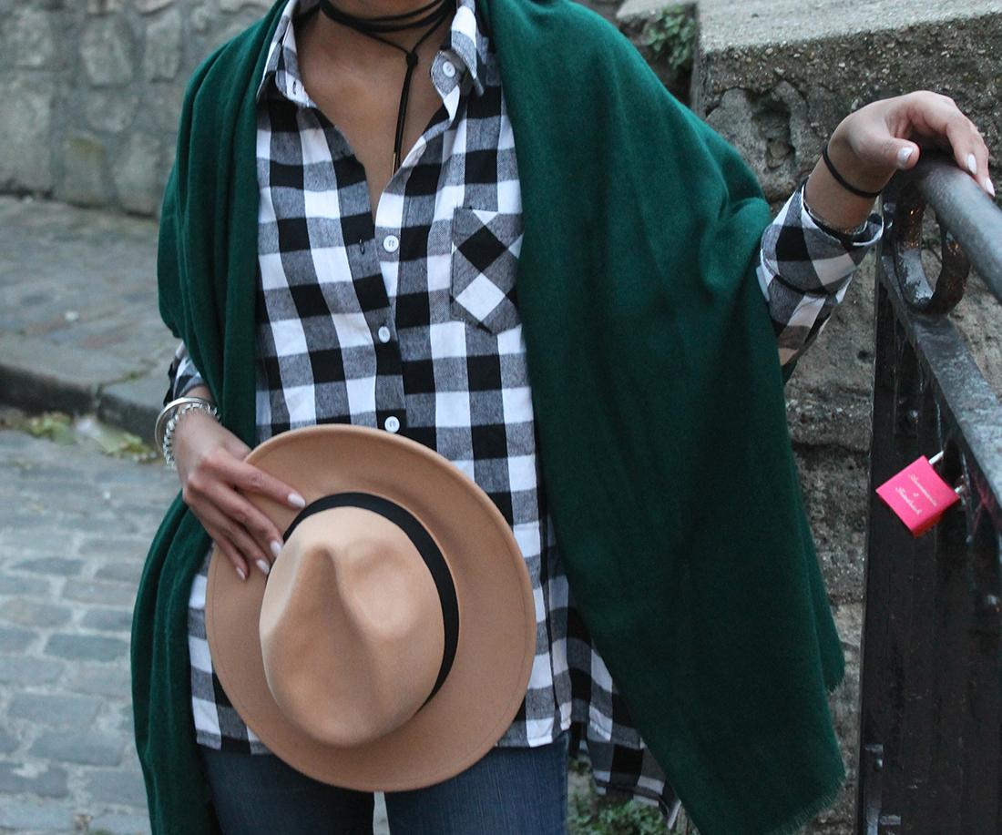 look-zaful-chemise-carreaux-chapeau