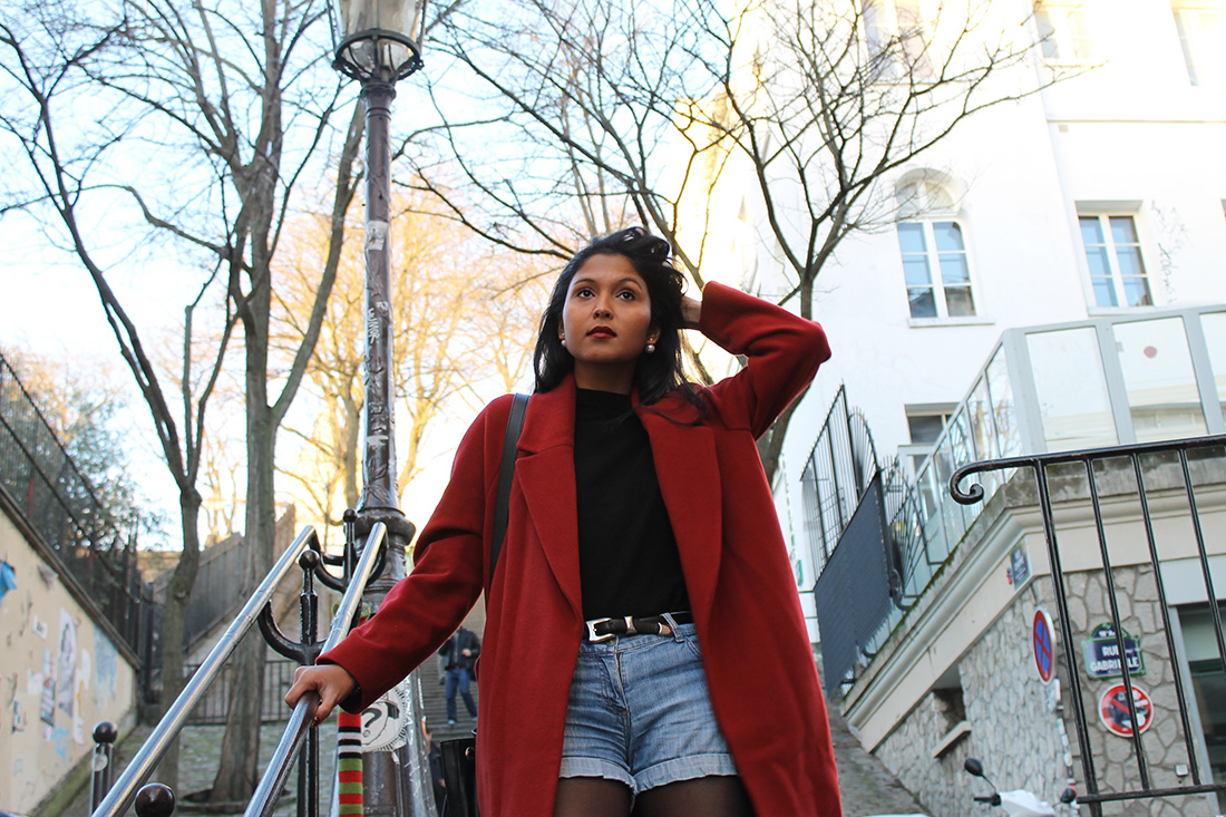 look-hiver-manteau-rouge