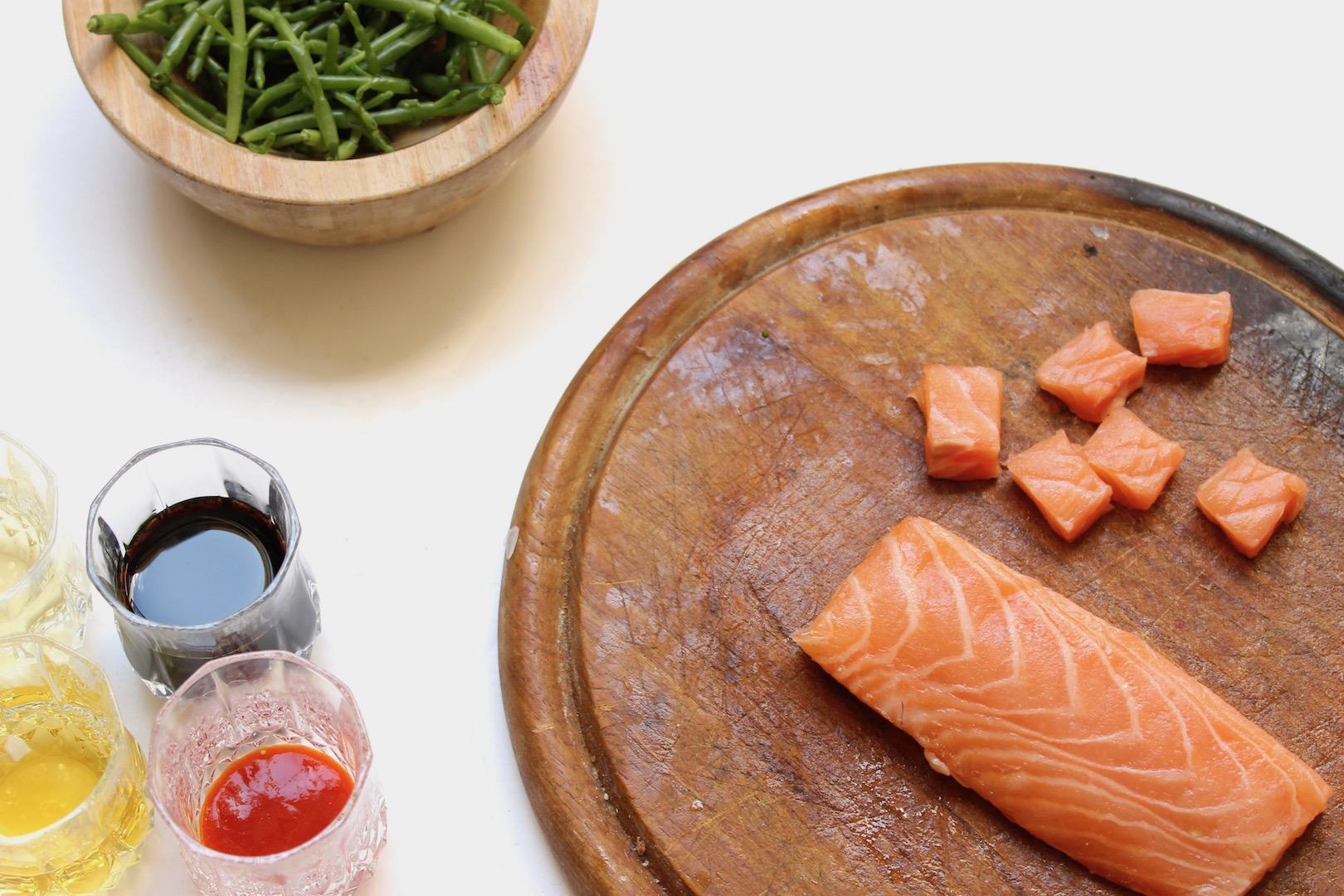 preparer-saumon-poke-bowl
