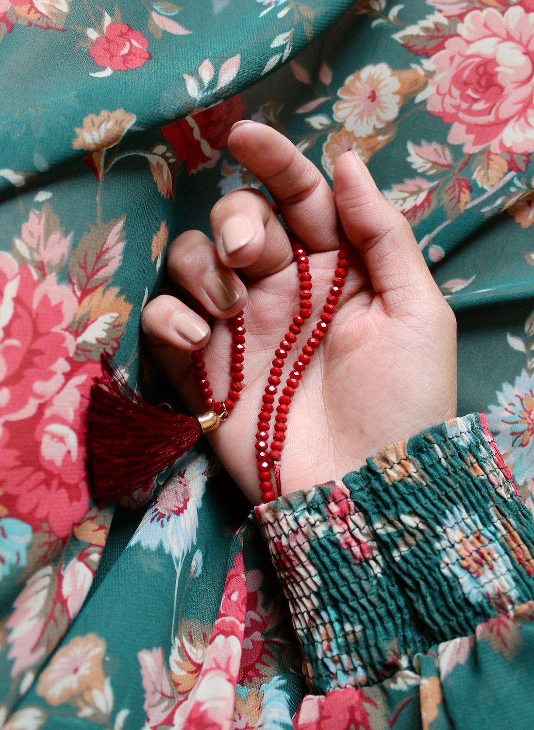 robe-imprime-floral-vert